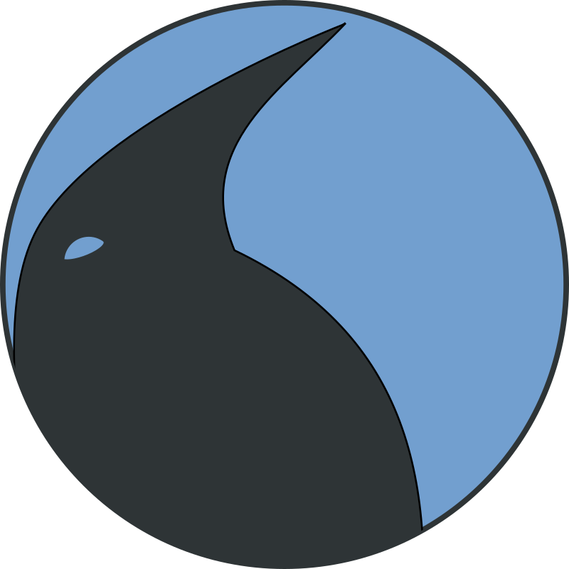 Penguin Profile Medalion by notKlaatu - Profile of a penguin head, in a circle medallion. Drawn in Inkscape