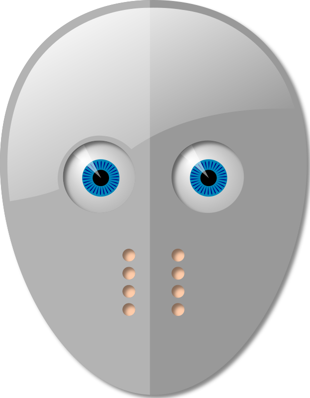 Hockey Mask and Eyes by davmac - A simple hockey mask over a face/eyes