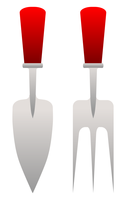 Gardening Fork And Trowel by Viscious-Speed