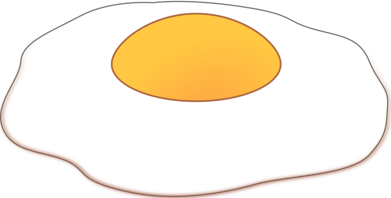 Clipart - Sunny side up
