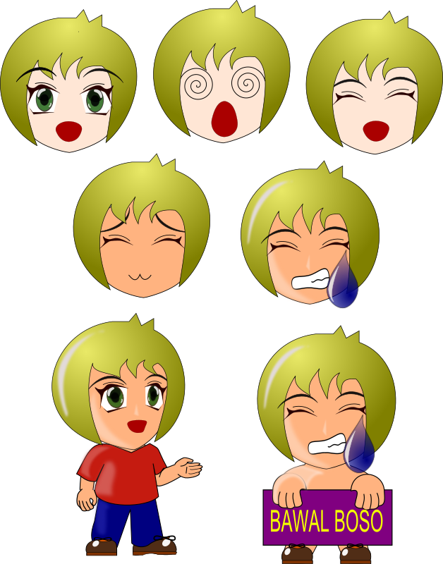 chibi by wsnaccad - i made this simple and basic chibi, you can ungroup the chibi so you can also reuse the eyes, hair, mouth, etc.