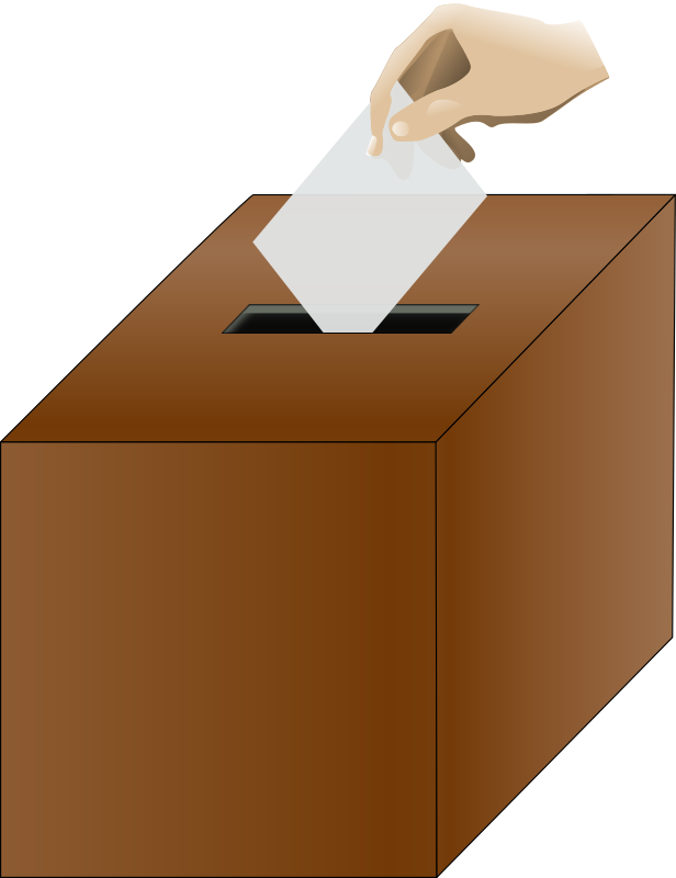 Ballot box isometric with hand by baditaflorin - isometric ...