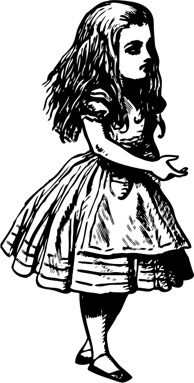 Alice (in wonderland) by kinetoons - An illustration from John Tenniel for the inital release of Alice in Wonderland by Lewis Carrol in 1865.