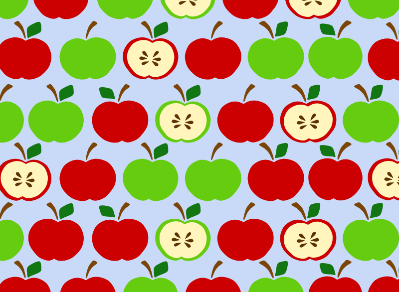 Apples Pattern Blue by Scout - background pattern with apple design