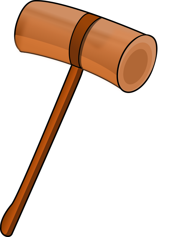 Clipart - Wooden mallet