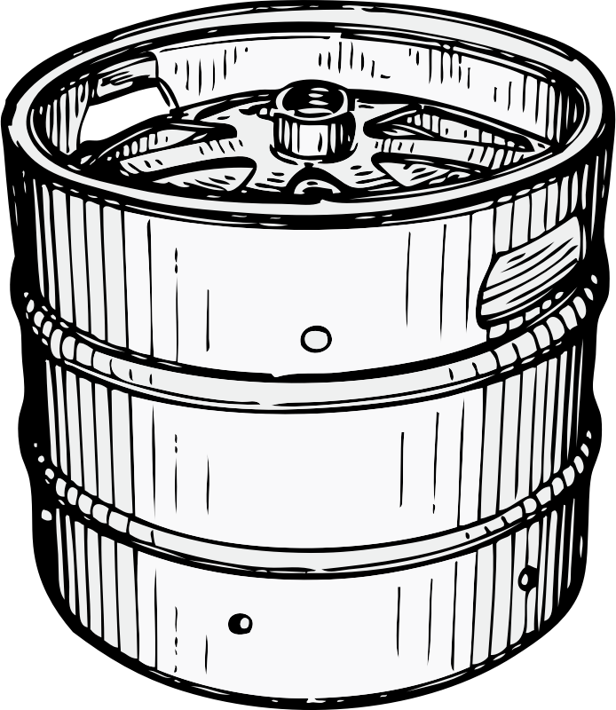 pony keg by johnny_automatic - a small beer keg holding 7.75 gallons of beer called a pony keg from a U.S. patent drawing