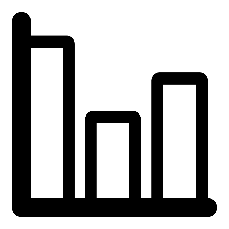 Clipart - mono chart bar: https://openclipart.org/detail/196775/mono-chart-bar
