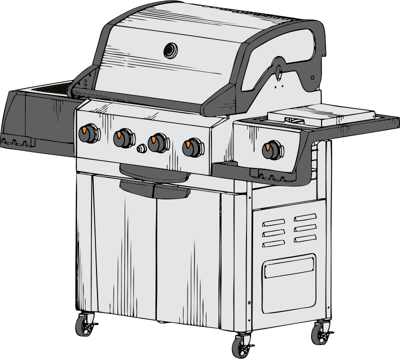 barbeque grill by johnny_automatic - a barbeque grill from a U.S. patent drawing