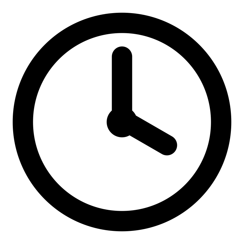 clock clipart black and white free - photo #36