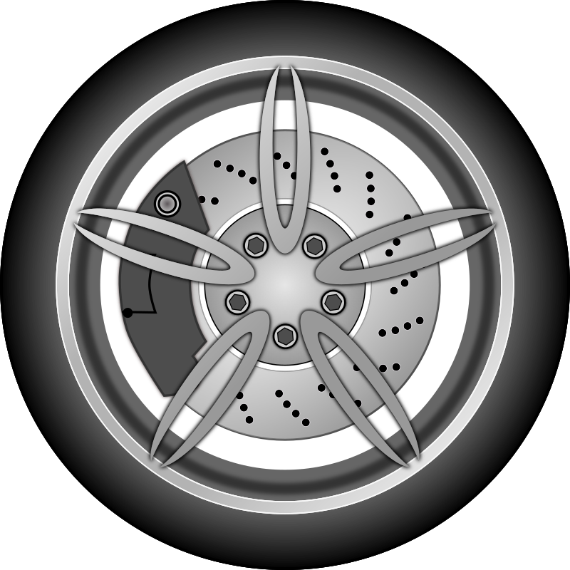 Car wheel by zlatkodesign - Alu 5 star car wheel