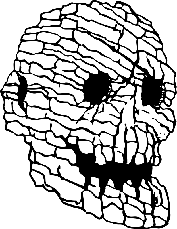 rock skull by johnny_automatic - a human skull formed from rocks from a U.S. patent drawing