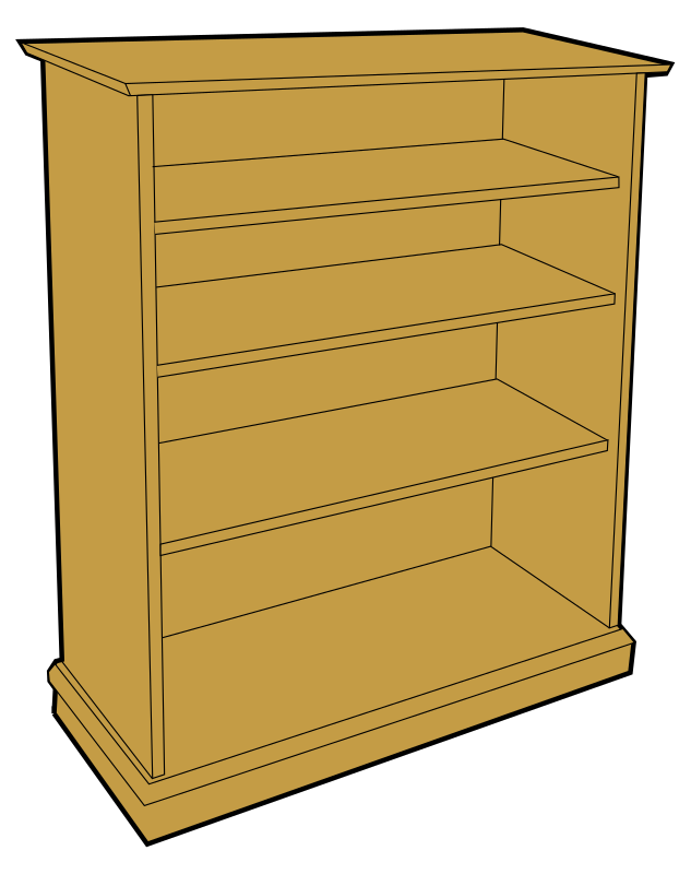 wooden bookcase by tom - Simple bookcase, design taken form a photo and traced.