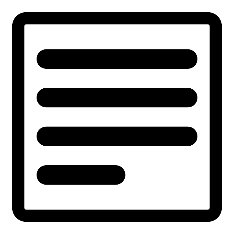 mono phrase by dannya - Part of the Monochrome KDE icon theme.