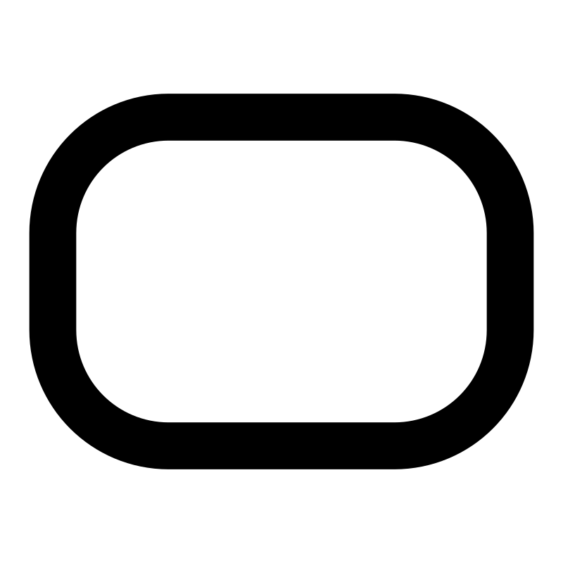 Clipart - mono tool rounded rectangle
