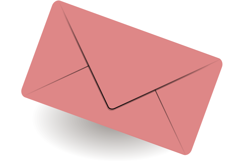 mail by sheikh_tuhin - A pink mail icon.