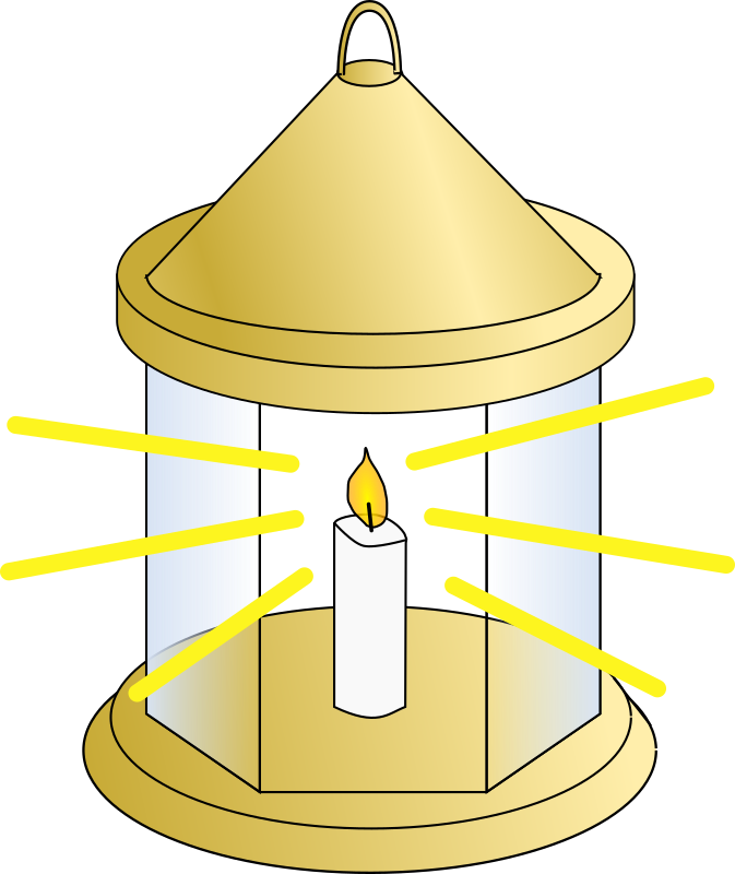 Lantern by davosmith - A lantern with a candle in the centre and beams of light shining out of it