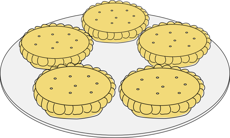 Mince pies by davosmith - A plate with 5 mince pies sitting on it