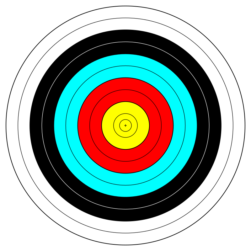 FITA Official Face; archery target by anamix - A FITA ... Archery Target Png