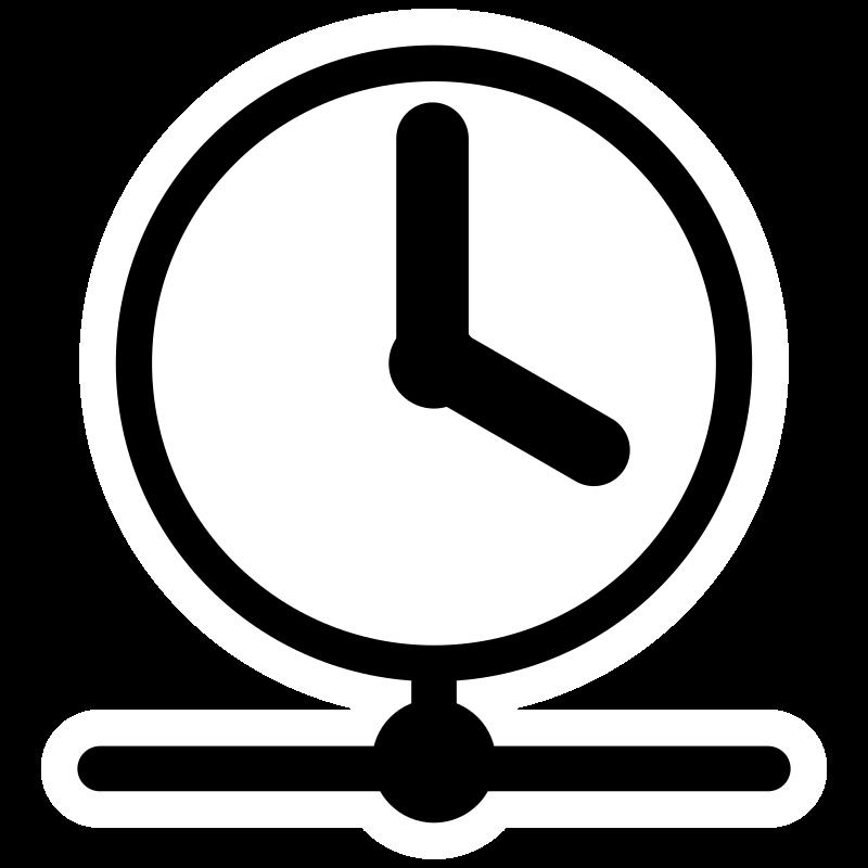 Round transparent clock