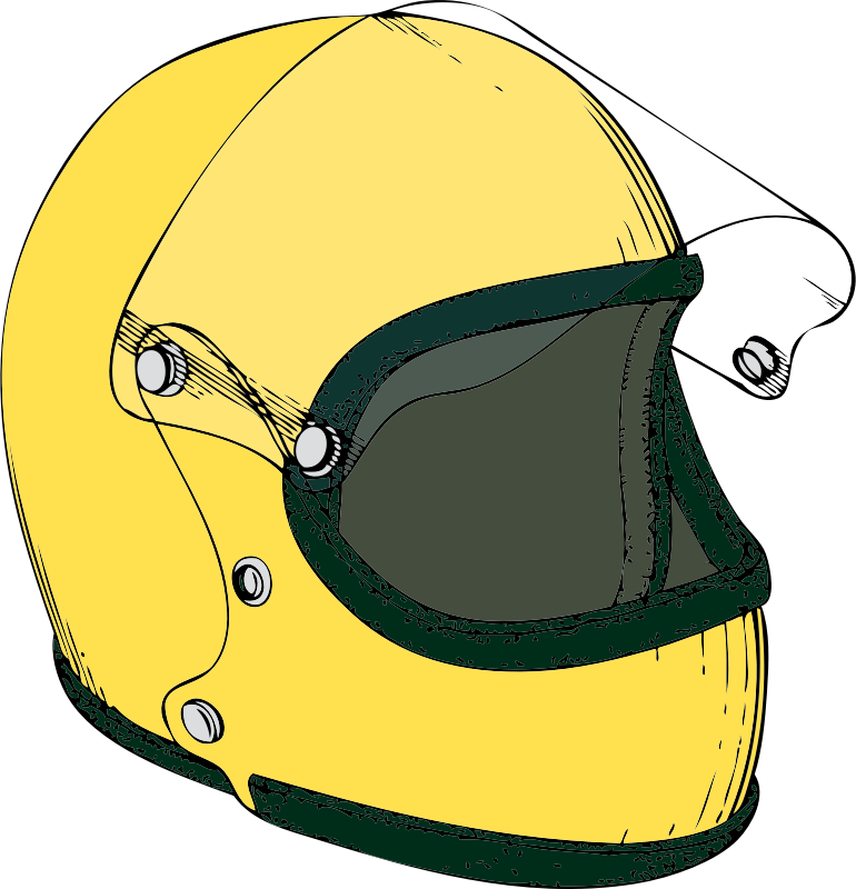 crash helmet by johnny_automatic - a racing car or motorcycle crash helmet from a U.S. patent drawing