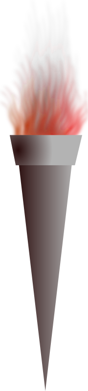 torch by wsnaccad - A torch using the Path Effects of Inkscape for the fire