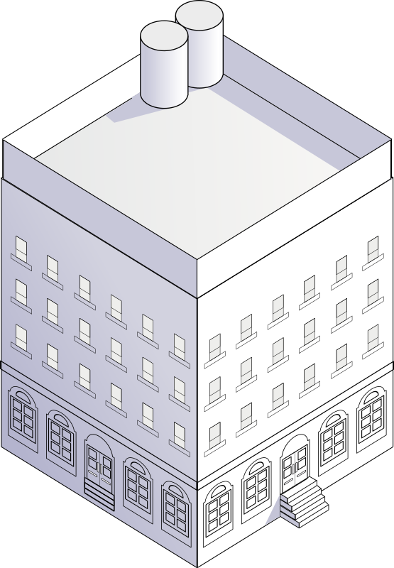 block house by rg1024 - Simple building in isometric perspective.