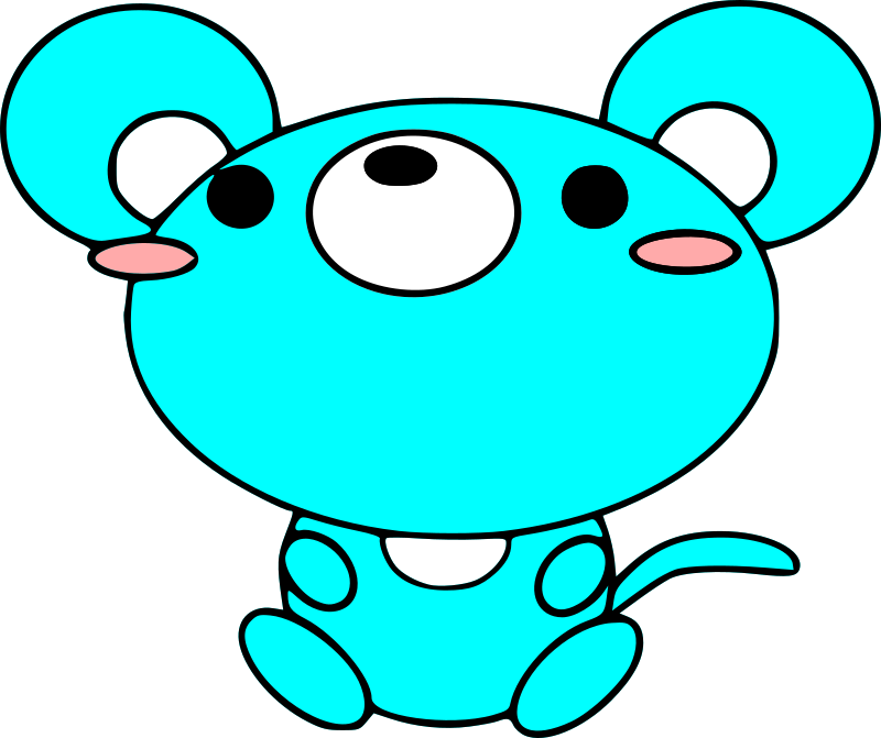 mouse by rumand - A cyan mouse.