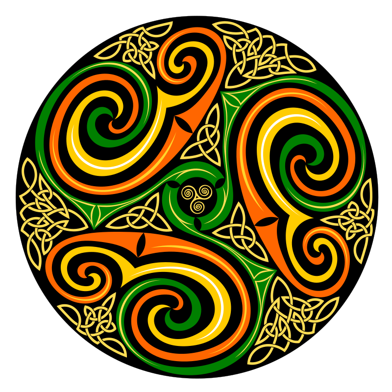 how to draw a celtic spiral