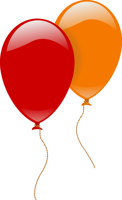 two ballons by rg1024 - Two balloons, one red and one orange.