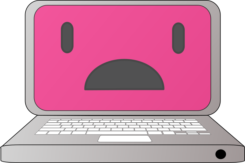 Line Art Laptop : Modern web design vector template with laptop tab stock