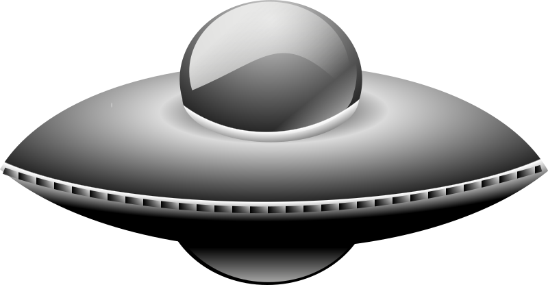 Clipart - Ufo in metalic style