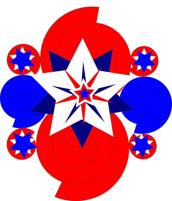 Clipart - 4th of July