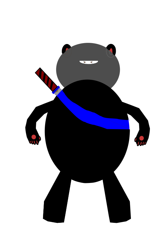 Clipart - Ninja Bear