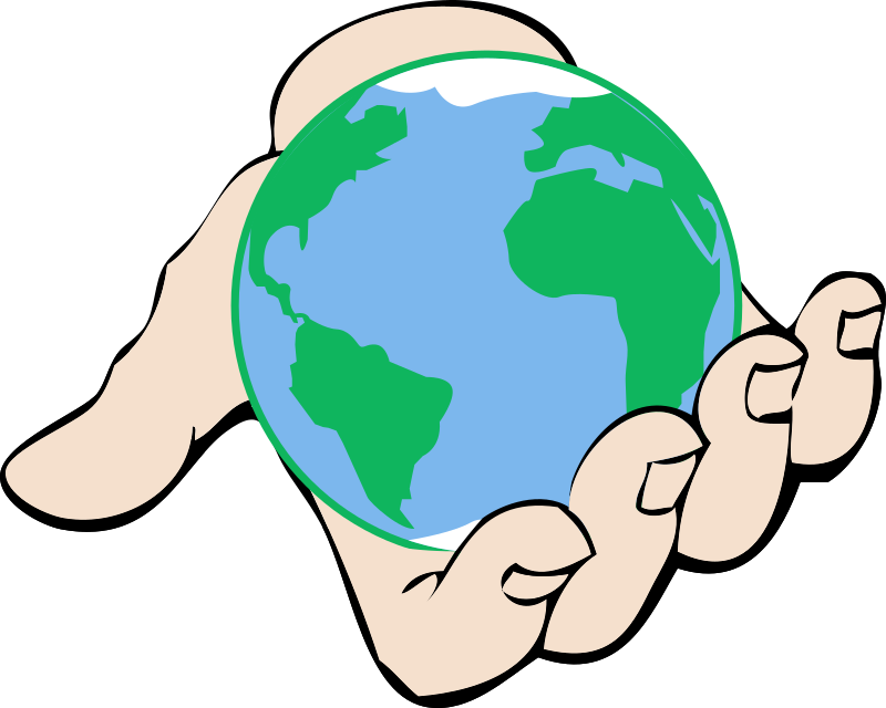 Clipart - Small World in Hand