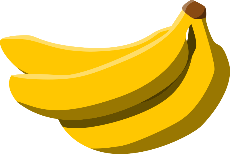 Bananas by pitr - It is a Public Domain image I've found on Wikimedia Commons. Uploaded by user Elembis, who traced it from a photo by Arj.