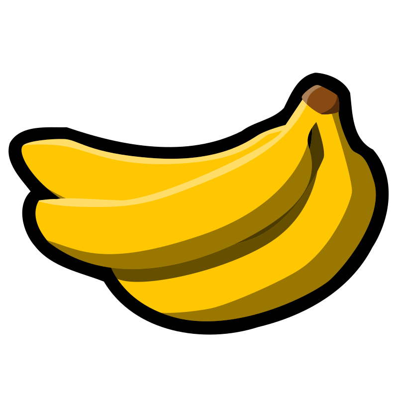 "Bananas icon by pitr - I have added a thick contour to ""Bananas"" image from Wikimedia Commons. Size 128x128 px."