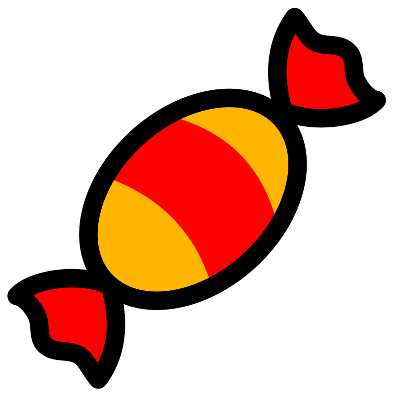 Candy icon by pitr - Simple image of a candy with thick black contour.