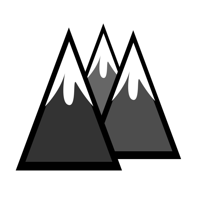 Clipart - Snowcapped Mountains