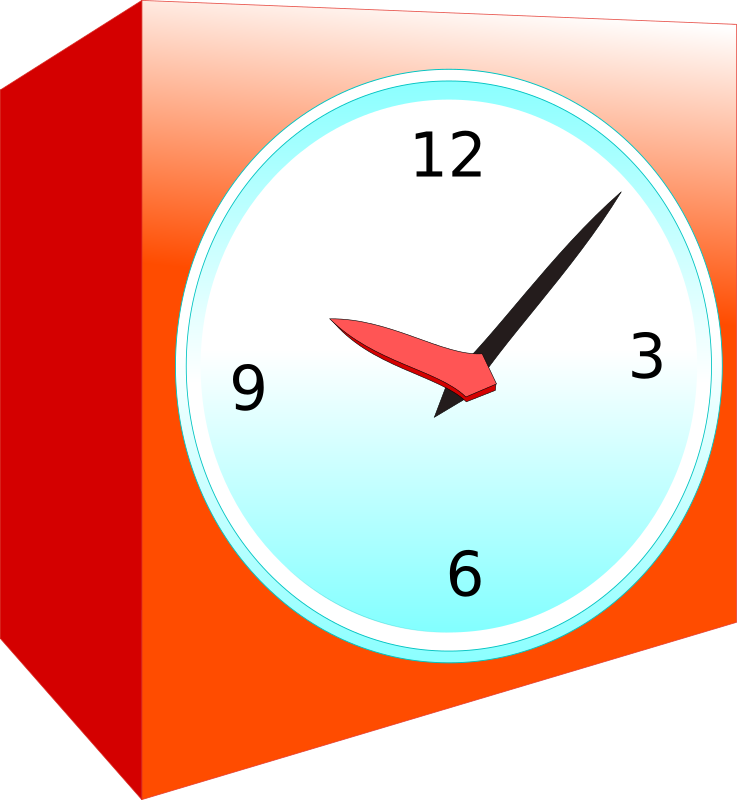 Analog alarm clock by AirW - A simple red alarm clock made with inkscape. Enjoy !