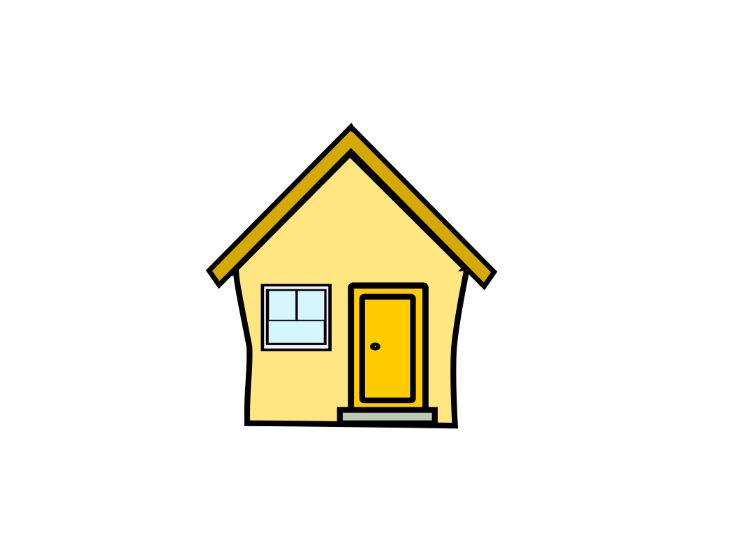 Yellow House Clipart
