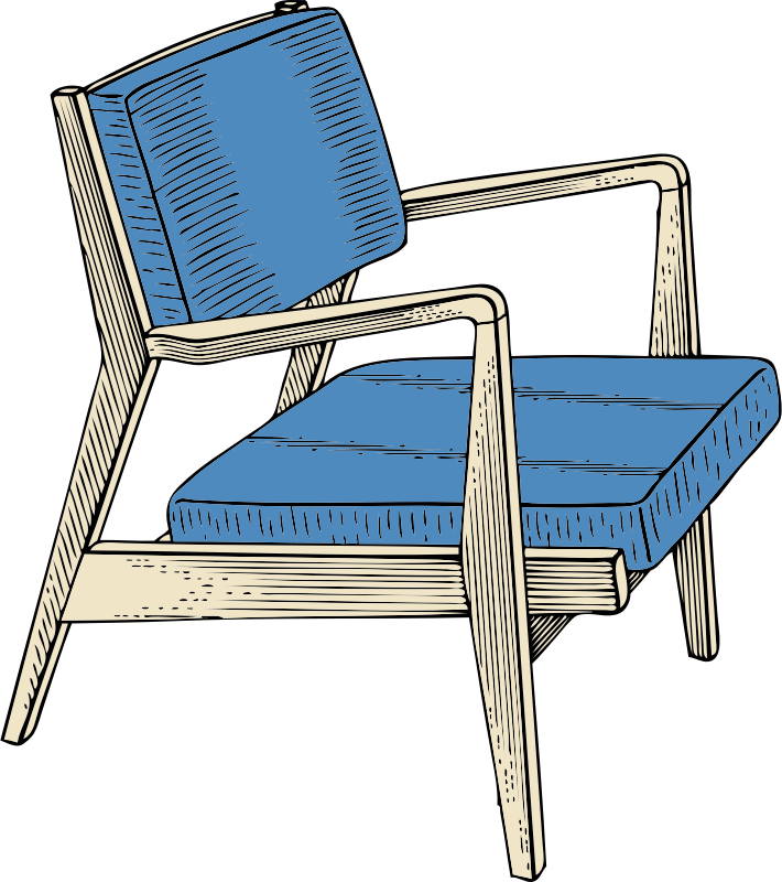 chair by johnny_automatic - a wooden and upholstery chair from a U.S. patent drawing