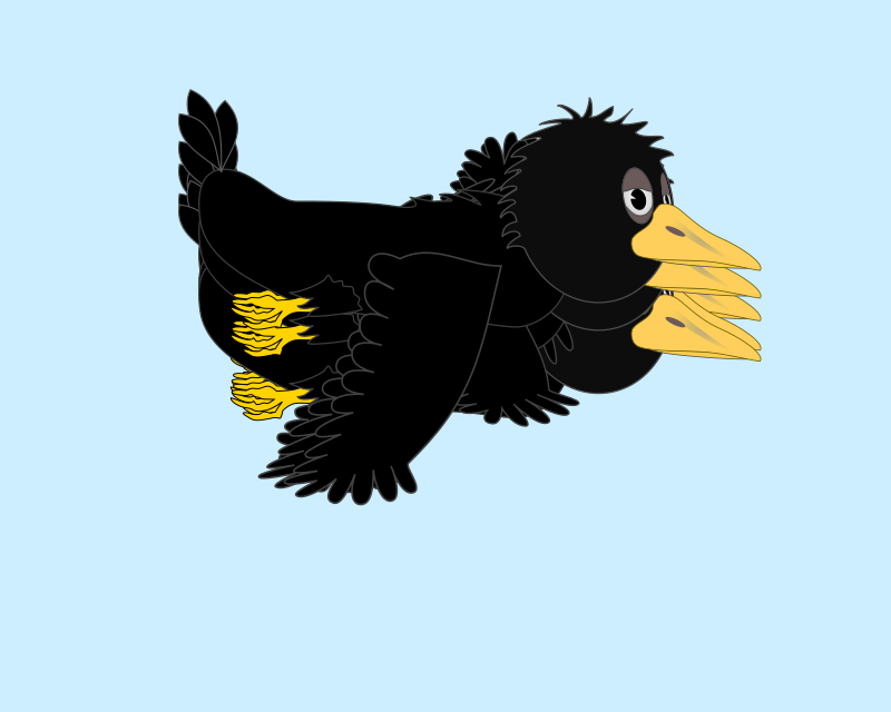 Flying crow clip art