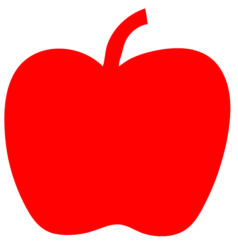 red apple clipart - photo #25