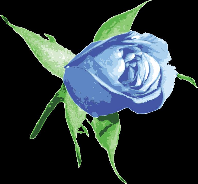 Clipart - Raseone Rose Blue