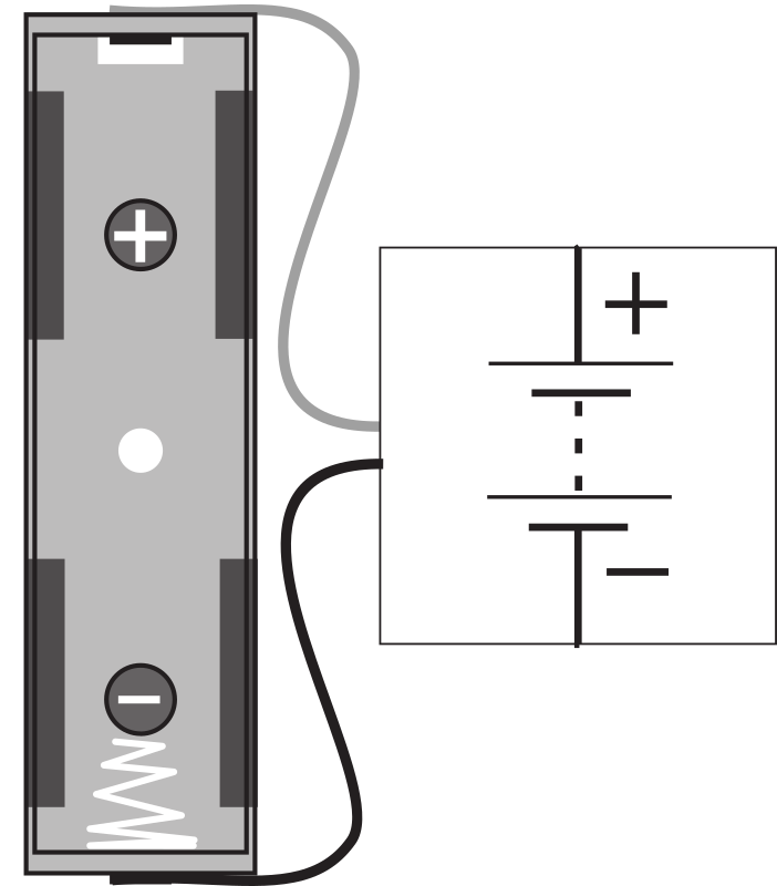 clipart battery connector block with aa holder