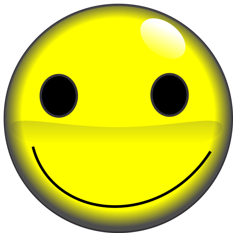Smile by Farmeral - Yellow smiley face.