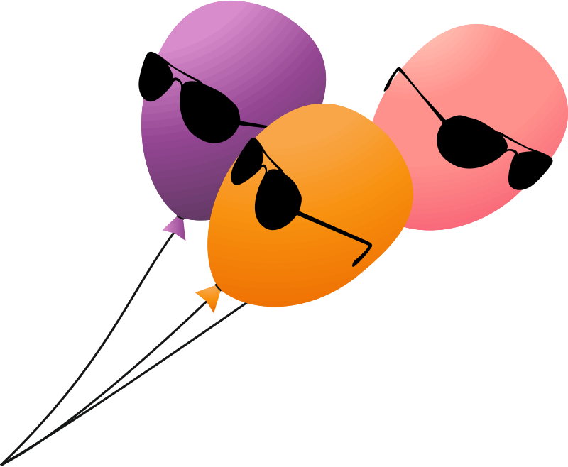 Clipart - Funny serious balloons