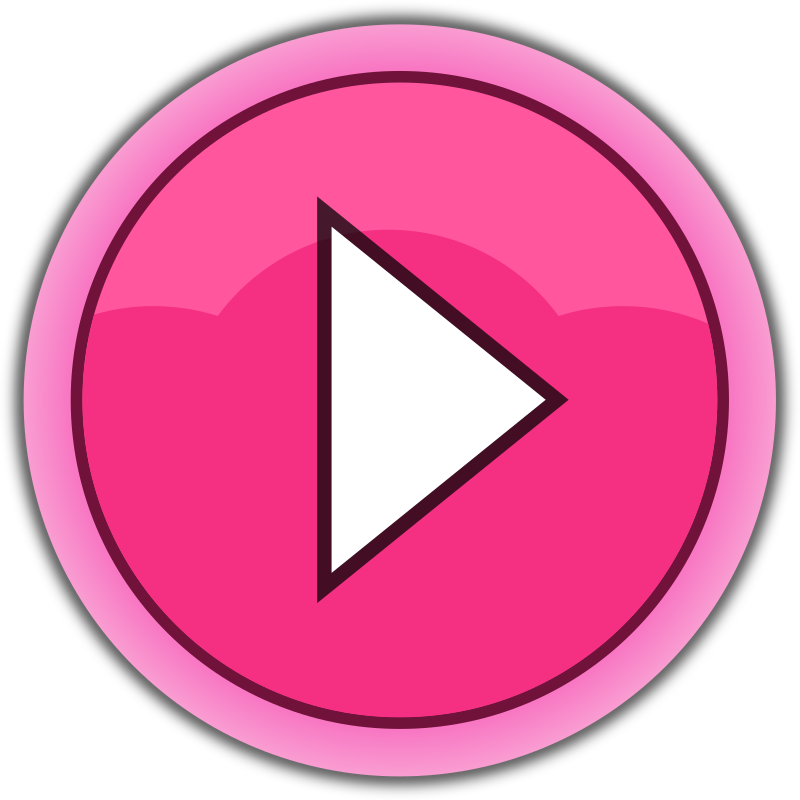 Clipart - pink button play