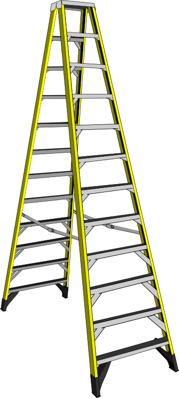Clipart Large Yellow Ladder