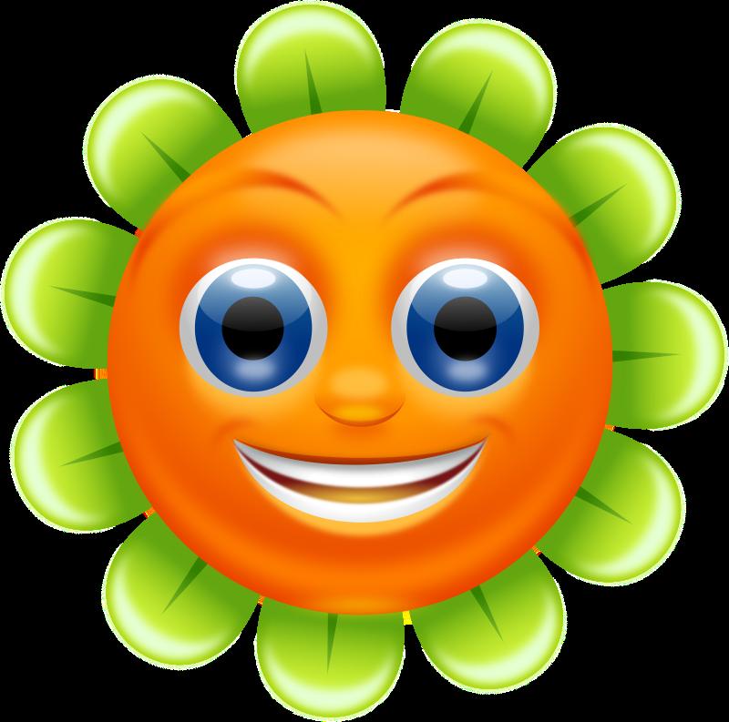 Clipart - Smiling Flower - superb quality